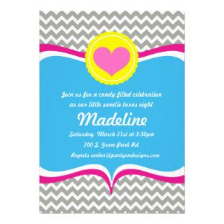 Candy Crush sweet shoppe Birthday Invitation party