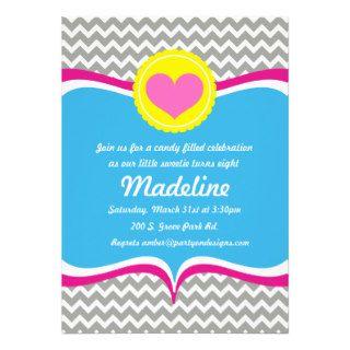 Candy Crush sweet shoppe Birthday Invitation party
