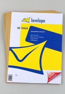 50 Versandtaschen C4 229 x 324 mm, natron braun, haftklebend, ohne Fenster, 90g/qm: Bürobedarf & Schreibwaren