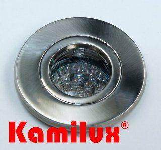 LED Bad Einbauleuchten 230V IP44 1, 5W 230V Warmweiss (edelstahl geb�rstet): Beleuchtung