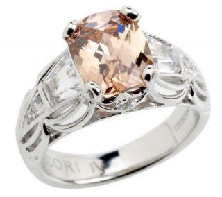 Tacori IV Diamonique Epiphany Emerald Cushion Cut Ring —