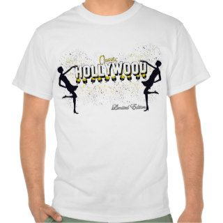 Hollywood Classic Silhouette White Background Tee Shirt