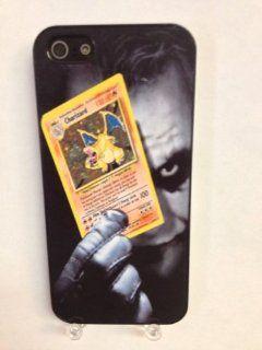 (629bi4) Joker Holding Charizard Pokemon Card iPhone 4 /4S Black Case: Everything Else