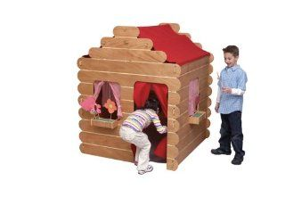 Little Colorado Log Cabin Play House Natural Toys & Games