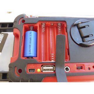 Ambient Weather WR 333 Emergency Solar Hand Crank Weather Alert Radio, Flashlight, Smart Phone Charger   Emergency Radio That Charges Iphone
