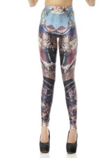Solilor Fashion Women's Killing Field Print Leggings at  Women�s Clothing store: Leggings Pants