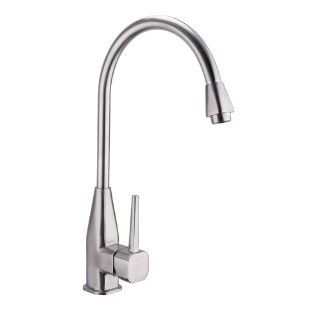 KES L6252 Single Lever Kitchen Faucet with High Arc Rotating Spout Lead Free, Brushed Stainless Steel   Touch On Kitchen Sink Faucets