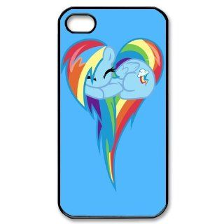 Custom Rainbow Dash Cover Case for iPhone 4 WX5681: Cell Phones & Accessories