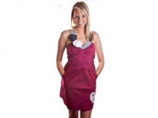 Livy Lu Sweetheart Dress OU Crimson L Womens Dress Clothing