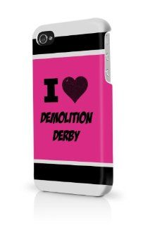 Demolition Derby Pink iPhone 5/5S Case   For iPhone 5/5S   Designer TPU Case Verizon AT&T Sprint: Cell Phones & Accessories