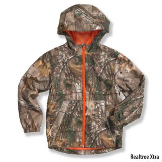 Carhartt Boys Packable Work Camo Hooded Rain Jacket 760869
