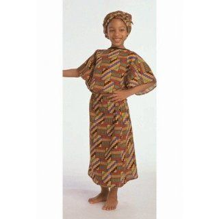 SCBFPH324G 2   ETHNIC COSTUMES GIRLS WEST AFRICAN pack of 2: Office Products