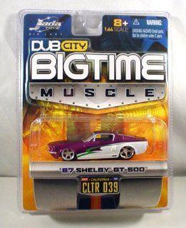 Dub City Jada Big Time Muscle White Purple 67 Shelby GT 500 164 scale Die Cast Car Toys & Games