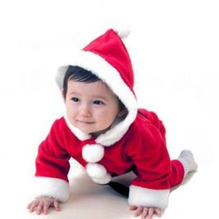 Fuloon Baby Girl Mrs Christmas Costume Santa Red Dress Hat Snowsuit Infant And Toddler Costumes Clothing