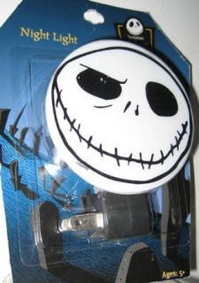 Disney Nightmare Before Christmas Jack Skellington Head Night Light