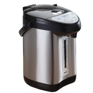 Aroma AAP 340SB Hot Water Central 4 Quart Air Pot/Water Heater, Stainless Steel: Electric Hot Pots: Kitchen & Dining