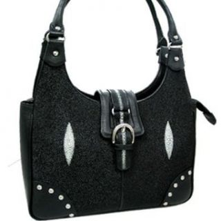 Stingray Leather Hobo Bag w/ Studs Clothing