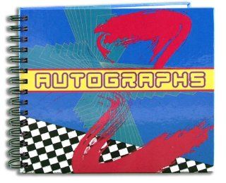 "BookFactory� Autograph Journal / Autograph Book   48 Pages, Wire O With Laminate Color Cover, Page Size 6"" x 5"" (LOG 048 CCW A(AUTOGRAPH))  Record Books"
