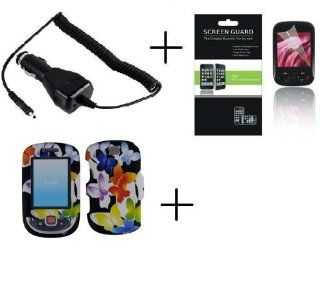 SAMSUNG SMILE T359 Color Butterfly Premium Designer Hard Protector Case + Screen Protector + Car Charger  Other Products