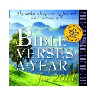 365 Bible Verses a Year 2014 Page A Day Calendar Workman Publishing 9780761174202 Books
