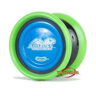 Duncan Hayabusa Off String Yo Yo   Blue and Green: Toys & Games