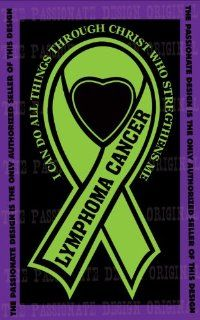 "Lymphoma Cancer Ribbon Decal 4"" X 7"": Everything Else"