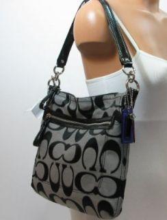 Coach 22456 Poppy Signature Metallic Outline Perri Hippie Moonlight Handbag Shoes