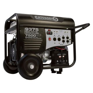 Category 5 Electric Start Generator — 9375 Watts, Wireless Remote Control, EPA and CARB-Compliant, Model# 41535  Portable Generators