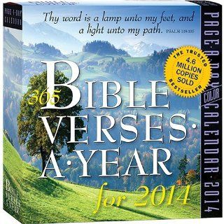 365 Bible Verses Page A Day 2014 Desk Calendar  Office Desk Pad Calendars