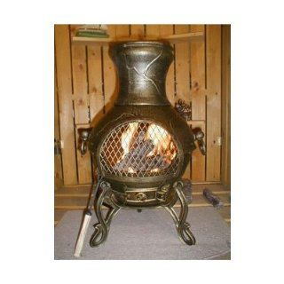 Bundle 61 Etruscan Style Chiminea (Set of 2) Finish: Charcoal : Outdoor Fireplaces : Patio, Lawn & Garden