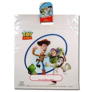 Disney Pixar TOY STORY Woody & Buzz Lightyear CLEAR Zip Lock STORAGE BAG or Gift Bag (LARGE 15 Inches Square) Health & Personal Care