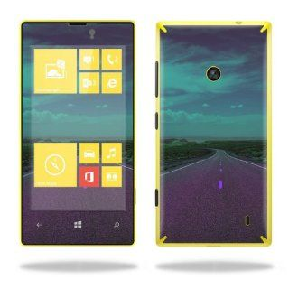 MightySkins Protective Vinyl Skin Decal Cover for Nokia Lumia 520 Cell Phone T Mobile Sticker Skins Highway: Cell Phones & Accessories
