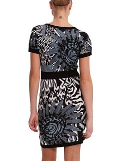 Desigual Blanco y negro dress Black