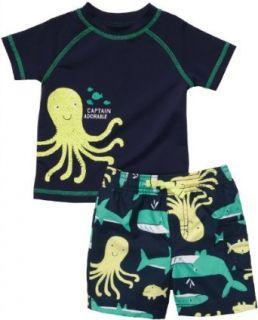Carter's Baby Boys 2 piece Octopus Rash Guard Swim Set (NB 24M) Clothing