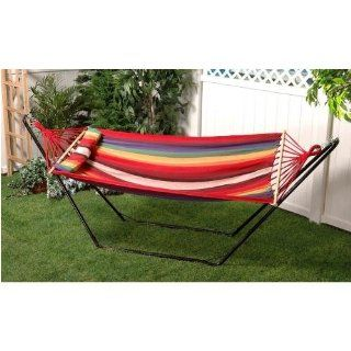 Bliss Hammocks BH 404A Oversized Hammock with Spreader Bar and Pillow, Tequila Tunrise : Patio, Lawn & Garden