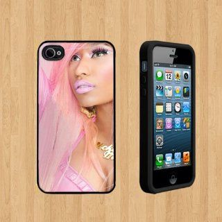 Nicki Minaj pink Custom Case/Cover FOR Apple iPhone 5 BLACK Rubber Case ( Ship From CA ): Cell Phones & Accessories
