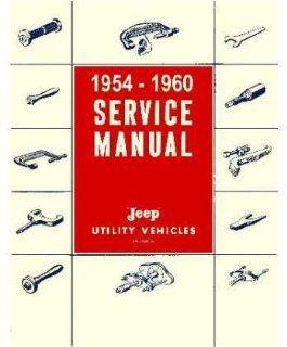 1954 1956 1957 1958 1959 1960 Jeep Shop Service Repair Manual Engine Drivetrain Automotive