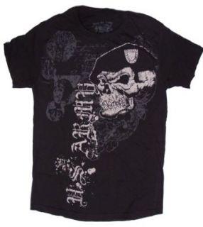 US Navy SEAL Store   U.S. Army Skull & Beret T Shirt   Black   Medium Clothing