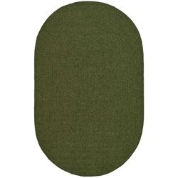 Handwoven Country Living Reversible Green Braided Polypropylene Rug (5 X 8)