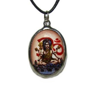 Shiva, Hindu Deity Pendant, The Vedic Collection: Pendant Necklaces: Jewelry