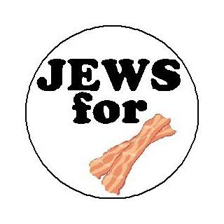 "JEWS FOR BACON 1.25"" Pinback Button Badge / Pin ~ Jewish Funny Humor"