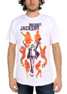 Michael Jackson   Silhouettes Mens S/S T Shirt In White, Size Large, Color White Music Fan T Shirts Clothing