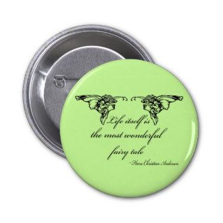 Hans Christian Andersen Fairy Tale Quote Gift Pins