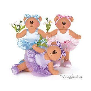 Adorable Set Of 3 Ballerina Dance Plush Bears Designed By Artist Lori Gardner Great Gift Idea For The Little Girl Ballet Dancer: Toys & Games