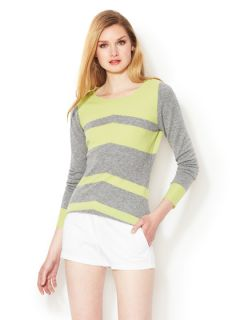 Arno Slim Sleeve Striped Cashmere Sweater by C.Z. FALCONER