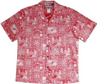 RJC Mens S to 4X Hawaii State Monarchy Reverse Shirt at  Men�s Clothing store Button Down Shirts