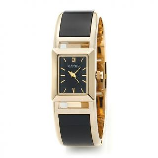 Caravelle New York by Bulova Ladies' Black and Goldtone Bangle Watch