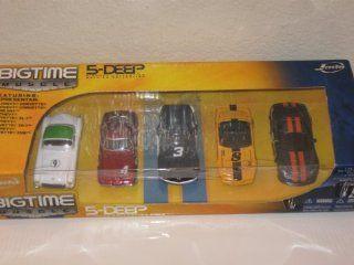 Jada Dub City Big Time Muscle 5 Deep 164 Scale Die Cast Car 5 Pack Corvette, 442, Camaro, GTO, Trans Am Toys & Games