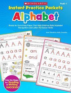 INSTANT PRACTICE PACKETS ALPHABET by SCHOLASTIC TEACHING RESOURCES  Early Childhood Development Products