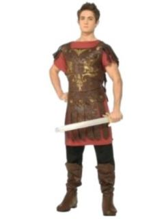 Rubies Halloween Roman Gladiator Costume XXL Red Brown Black Adult Sized Costumes Clothing